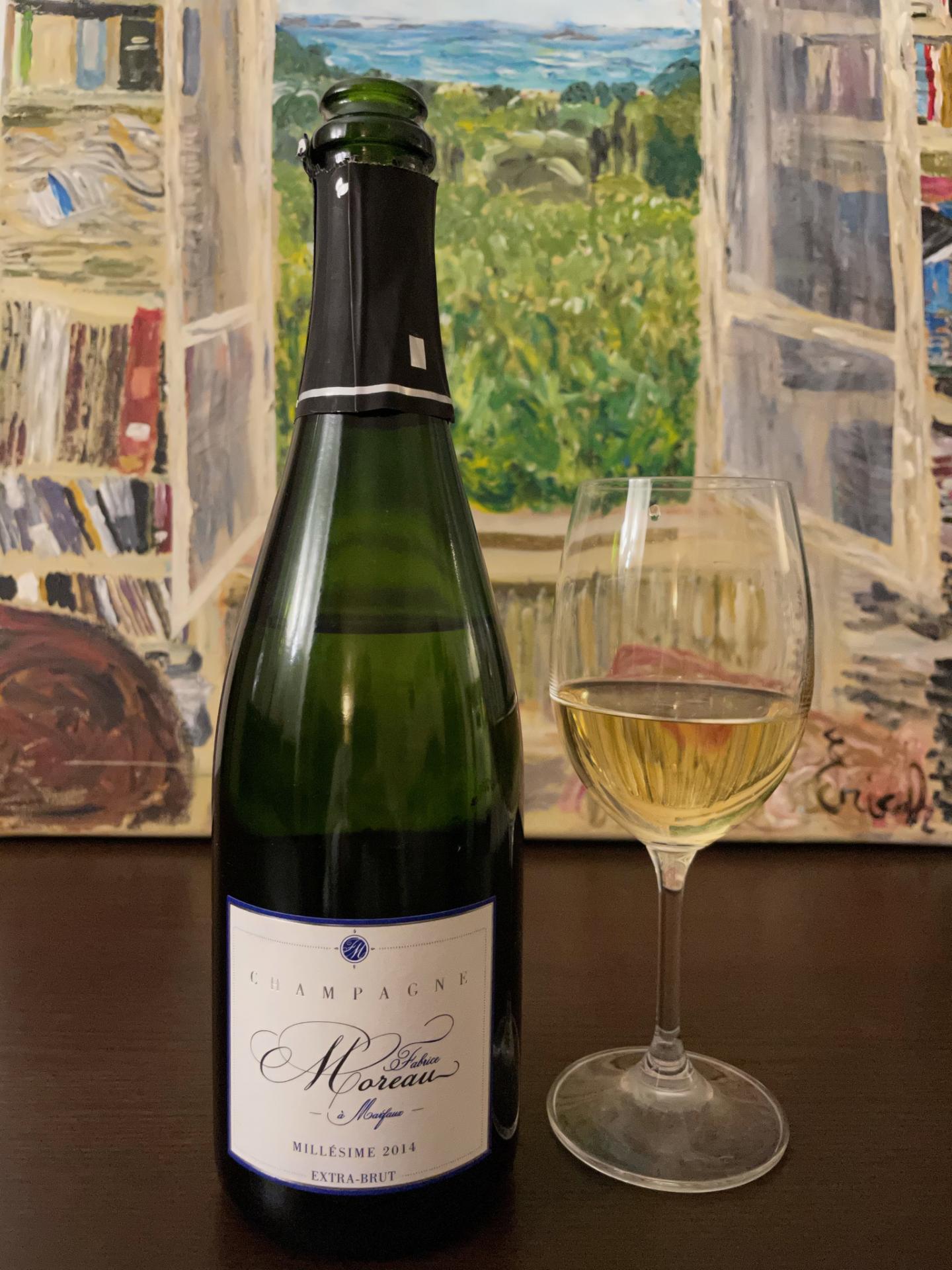 Champagne fabrice moreau extra brut millesime 2014