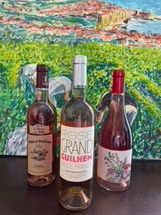 Coffret degustation 3 bouteilles des roses natures du sud