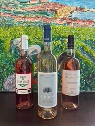 Coffret degustation 3 bouteilles des roses provencaux et corses