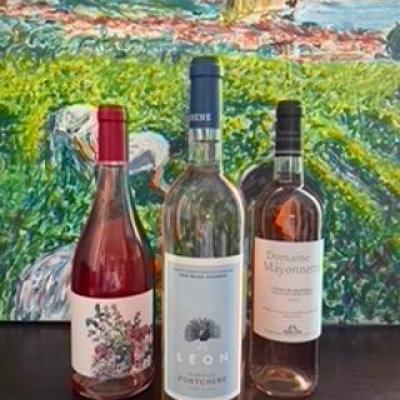 Coffret degustation 3 bouteilles des roses provencaux