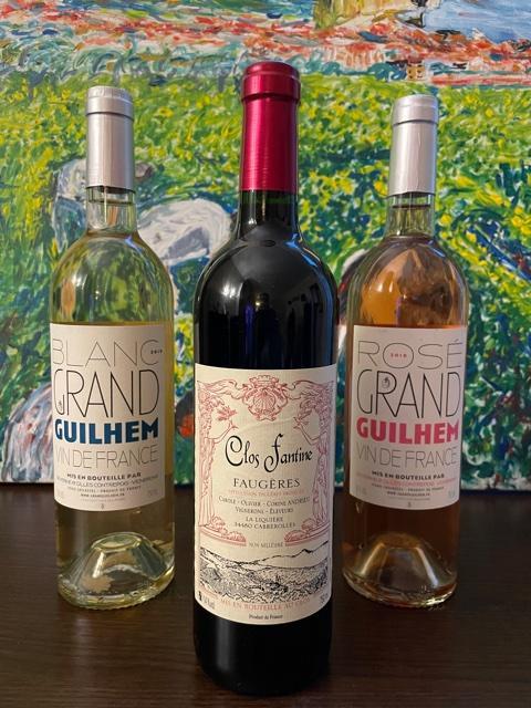 Coffret degustation 3 bouteilles languedocs natures
