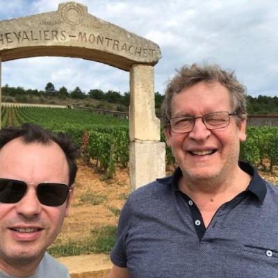 Serge arce et erick delille lors d un voyage en bourgogne 1